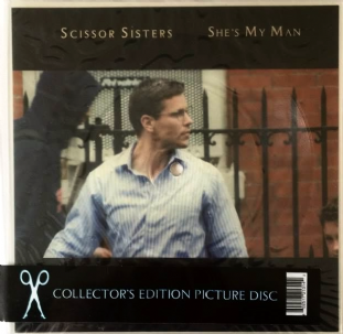 "Scissor Sisters ‎- She's My Man (7"") (Shaped Picture Disc) (VG++/VG-)"